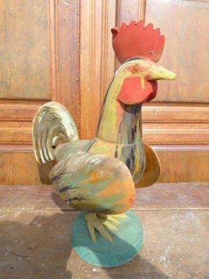 Coq art populaire en bois 4