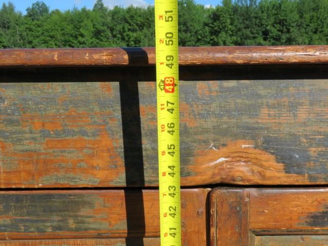 Armoire bahut en pin, chevilles de bois 10
