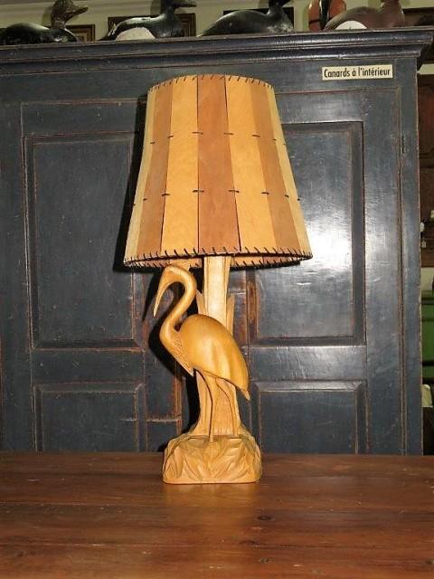 Lampe signée P-É Caron 1