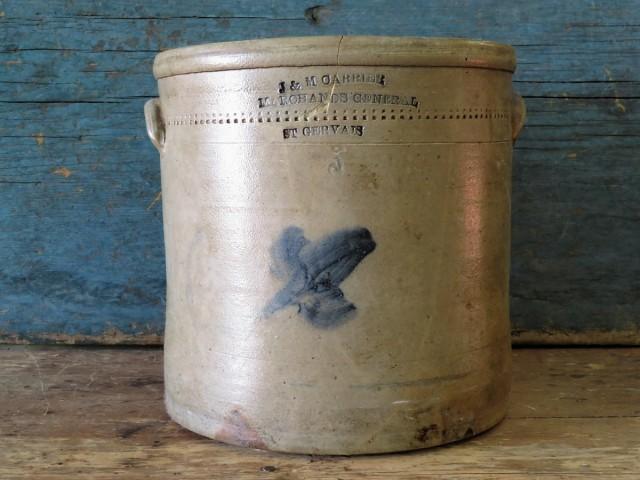 Jarre, tinette de marchand, St-Gervais 3