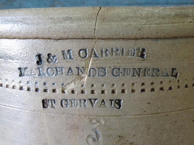 Jarre, tinette de marchand, St-Gervais 2