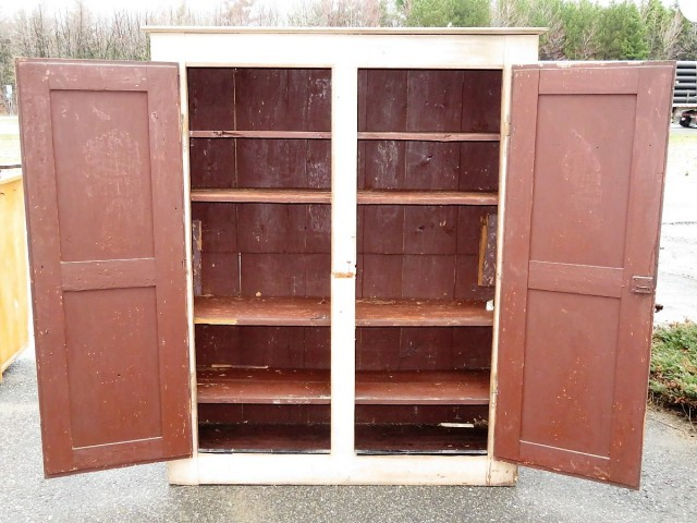 Very old pine cupboard, armoire 2