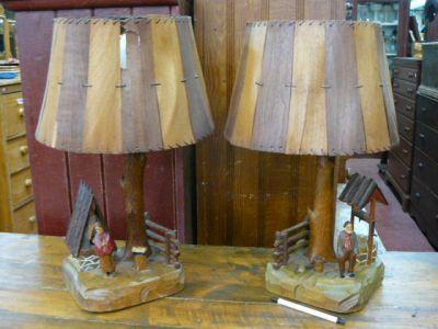 Lampes art populaire, St-Jean-Port-Joli 1