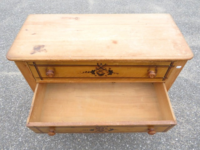 Commode, bureau en pin 4