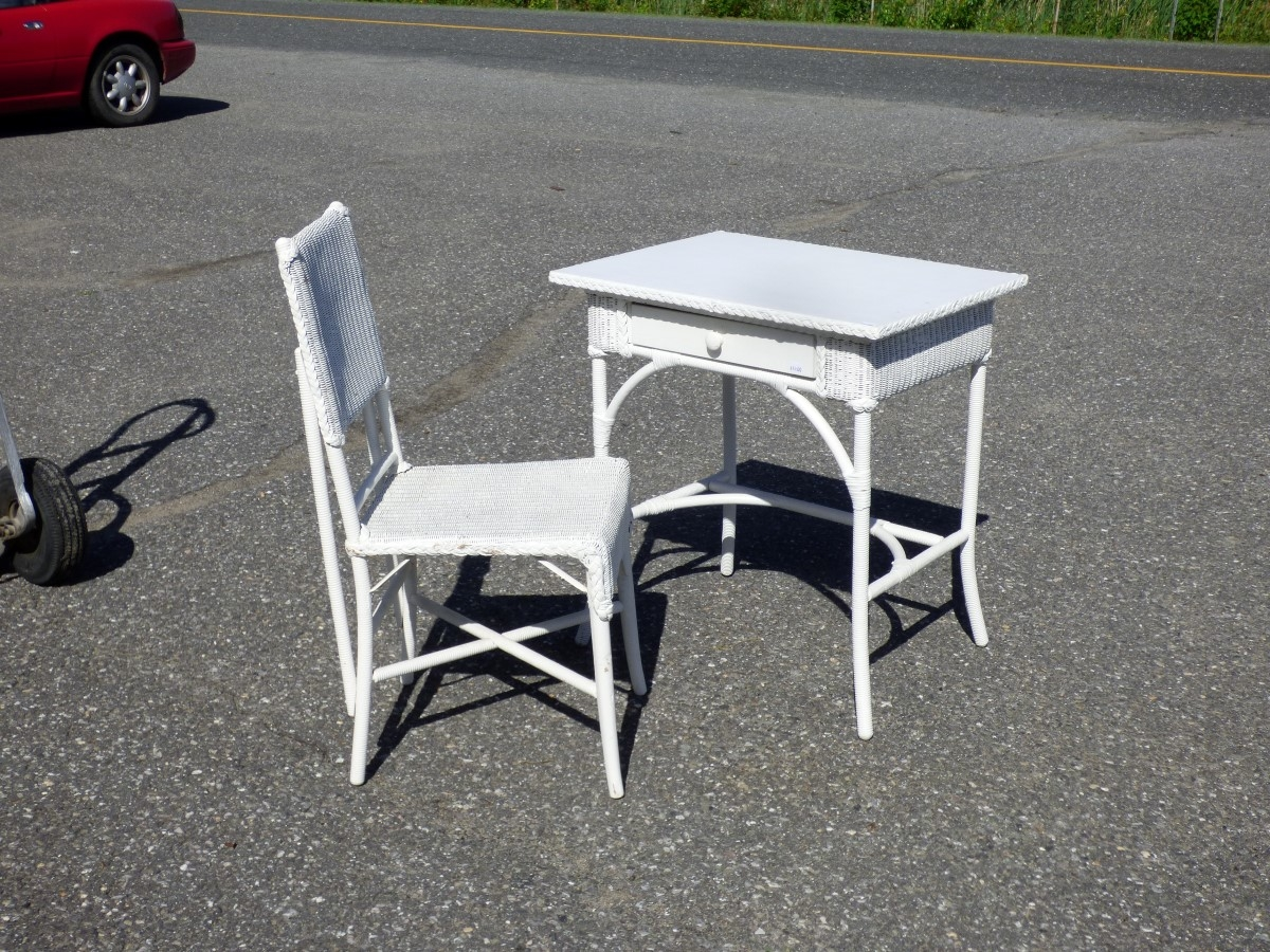 Table et chaise en rotin for Chaise et table en rotin