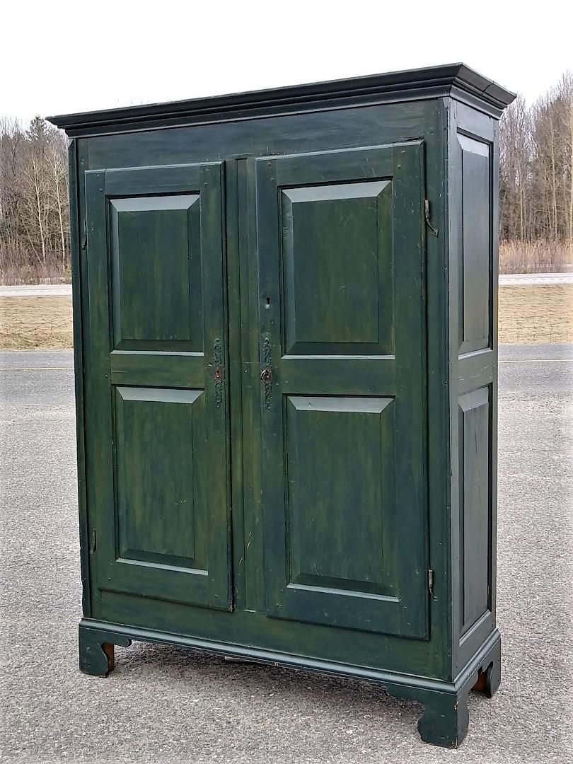 Pine antique armoire, cupbard, has been restored 9