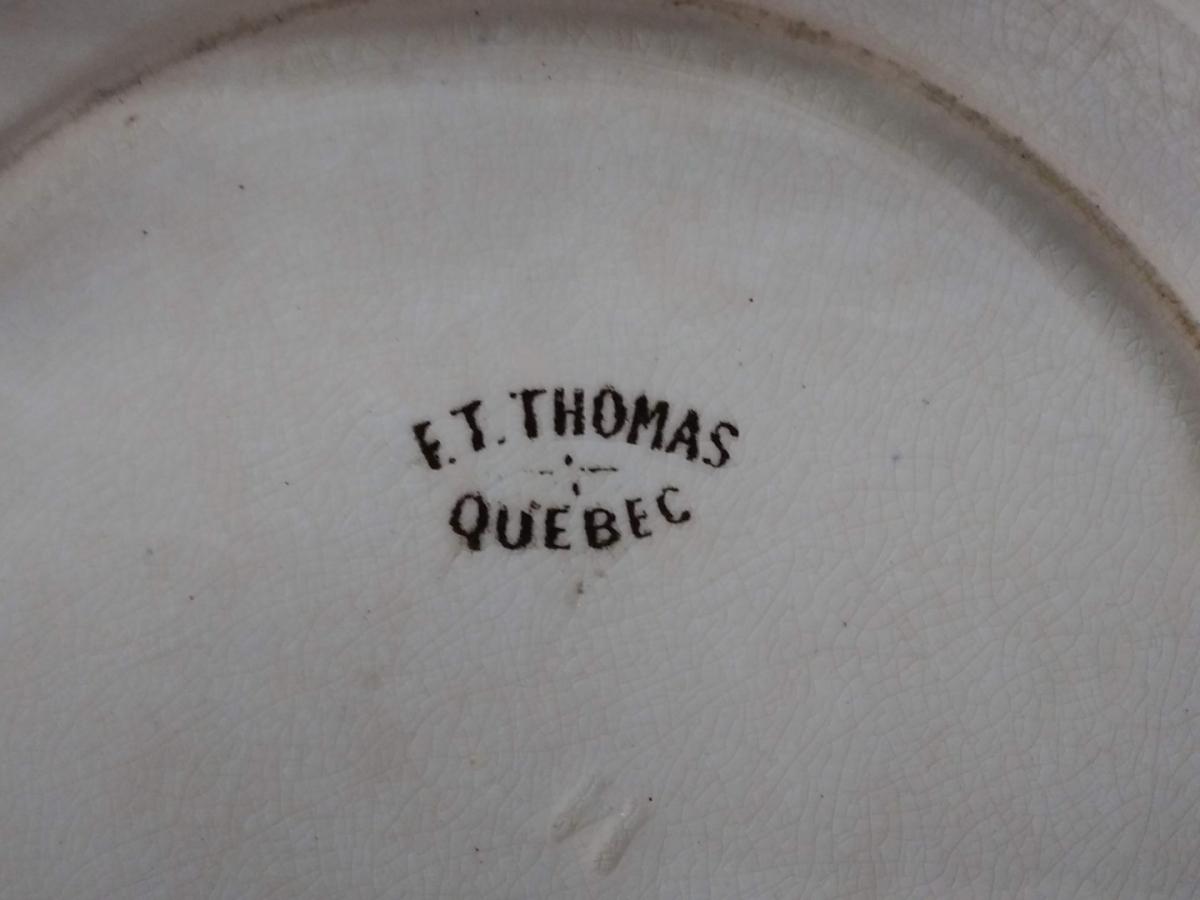 Assiette F.T. Thomas, Porte St-Louis, Québec (impeccable) 5