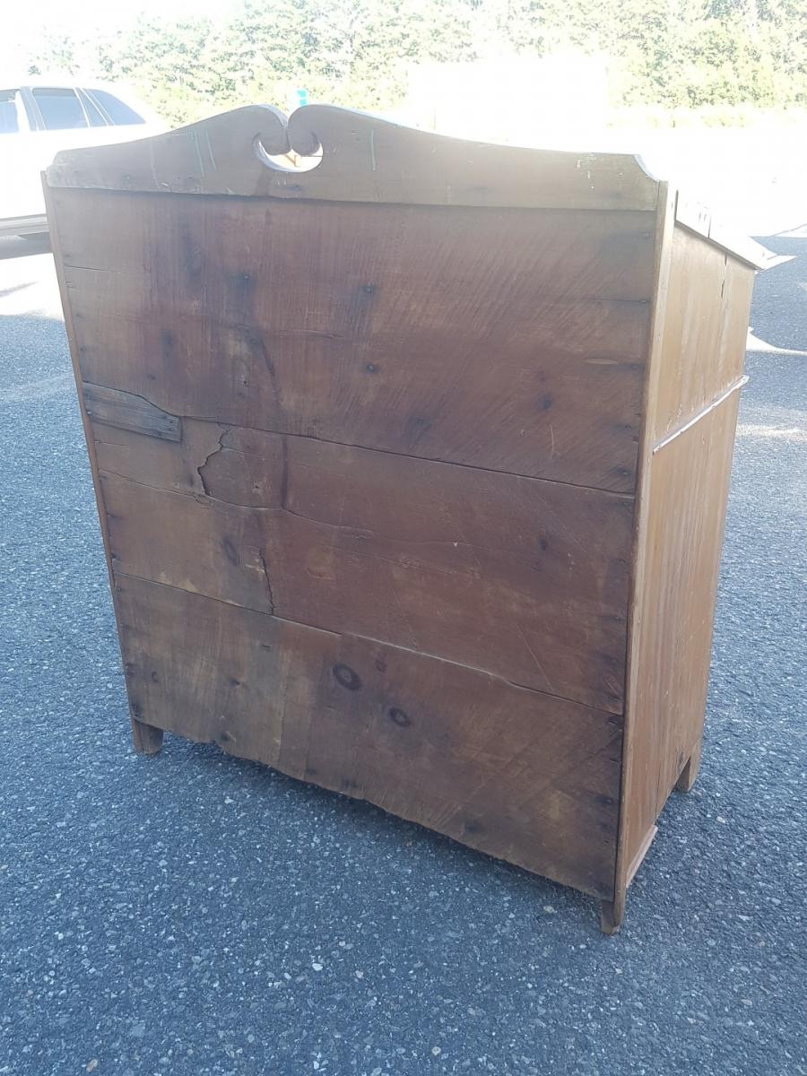 Antique pine desk 5