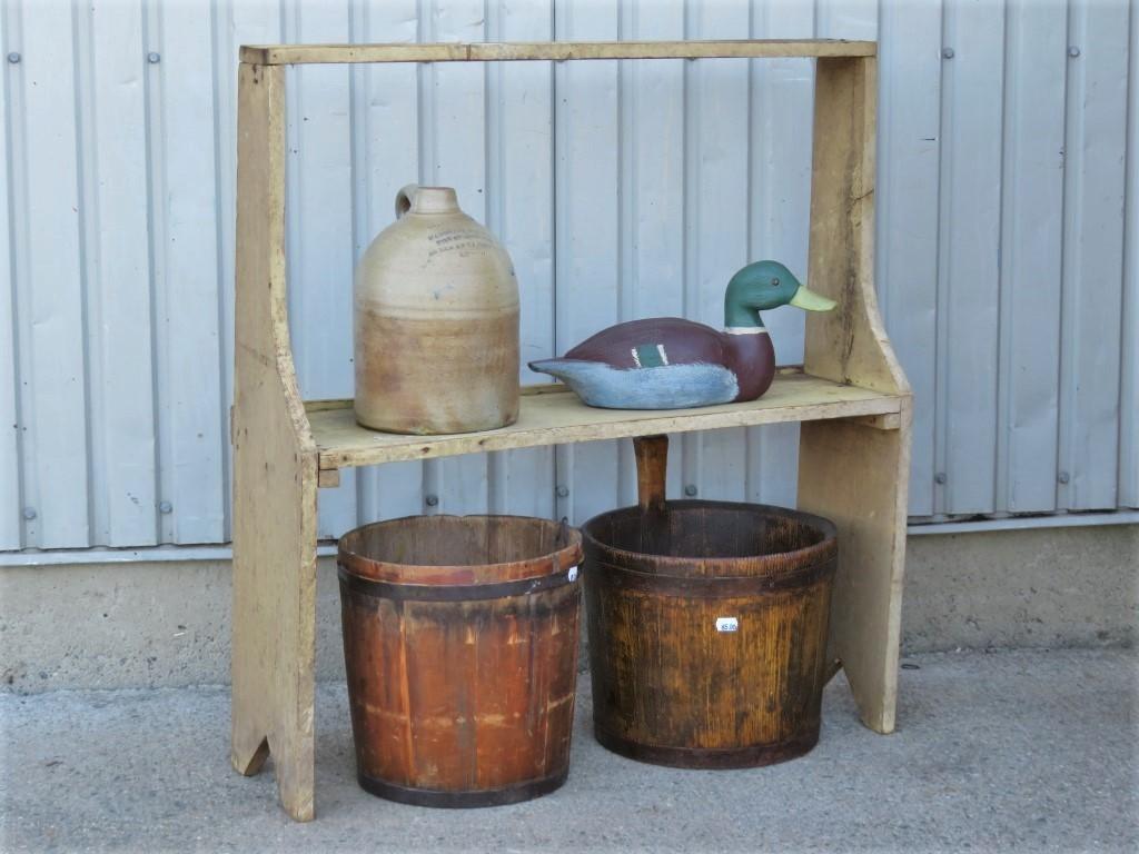 Bucket bench, original color, Early 20th century 1