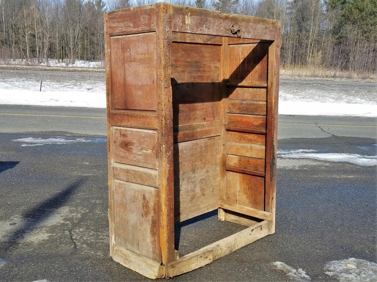 Very old armoire, doors missing, 18 century 1