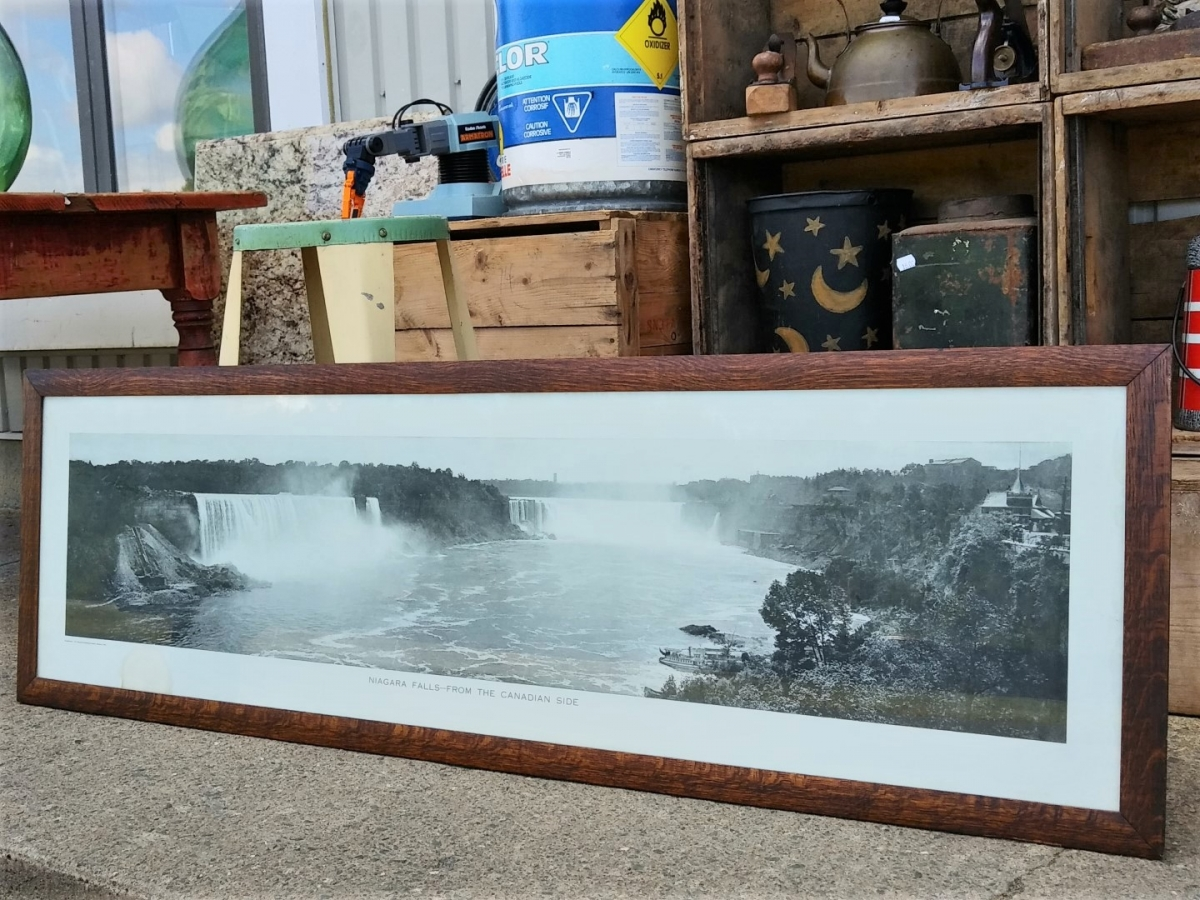 Cadre avec photo panoramique des chutes Niagara, imprimé 1