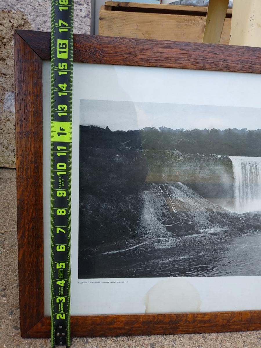 Cadre avec photo panoramique des chutes Niagara, imprimé 5