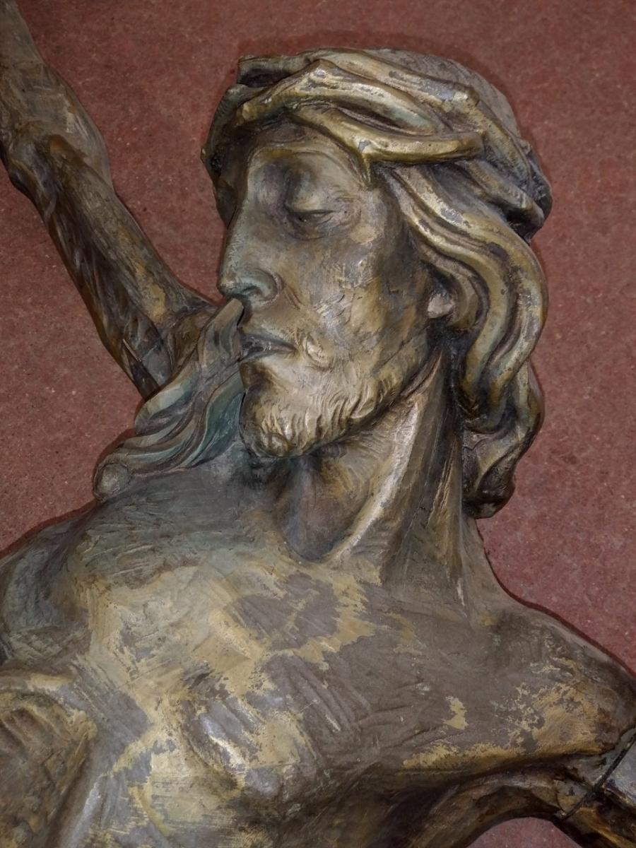 Corpus du Christ finement sculpté en bois, crucifix 6