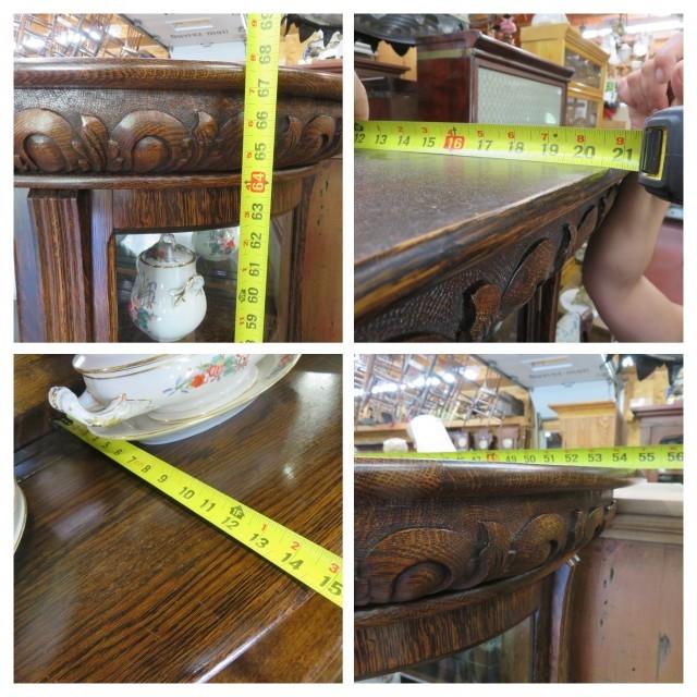 Oak china cabinet 2
