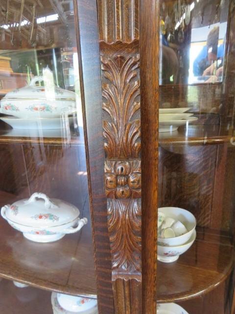 Oak china cabinet 3