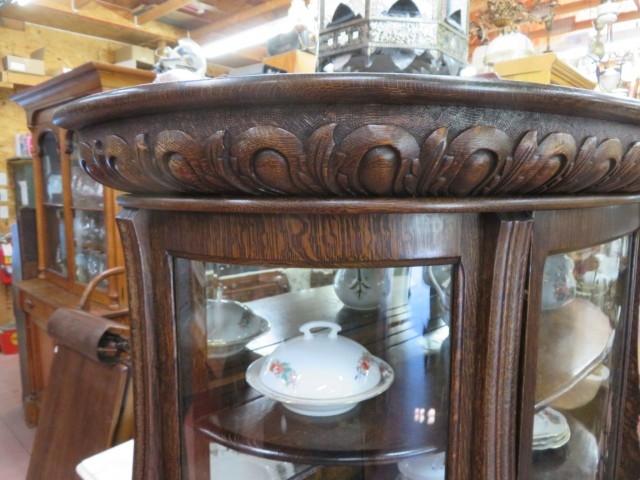 Oak china cabinet 4