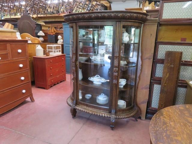 Oak china cabinet 5