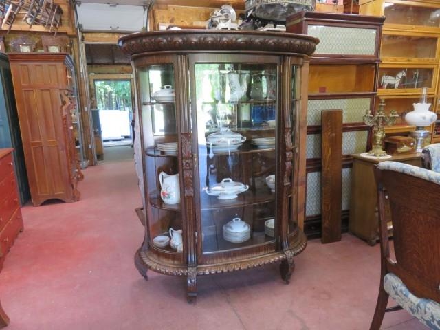 Oak china cabinet 6