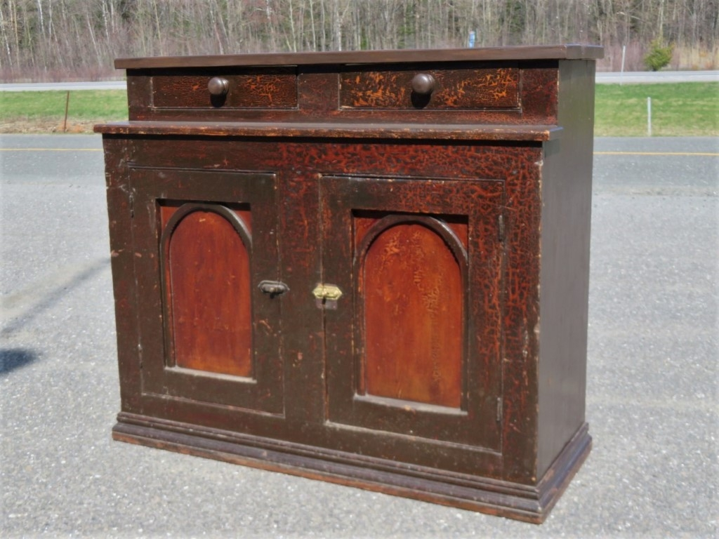 Rustic sideboard, cupboard was cut in the past 1