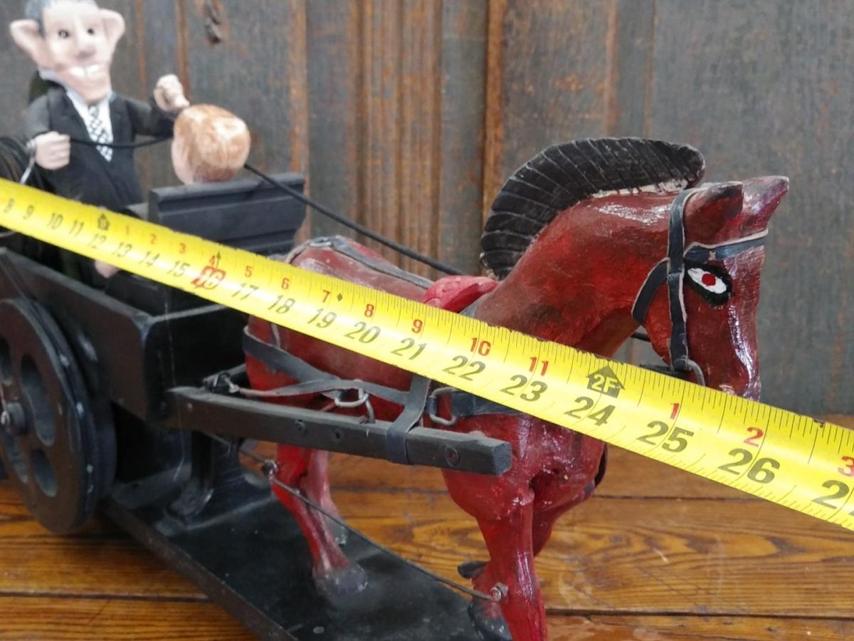 Folk art sculpture with horse 2