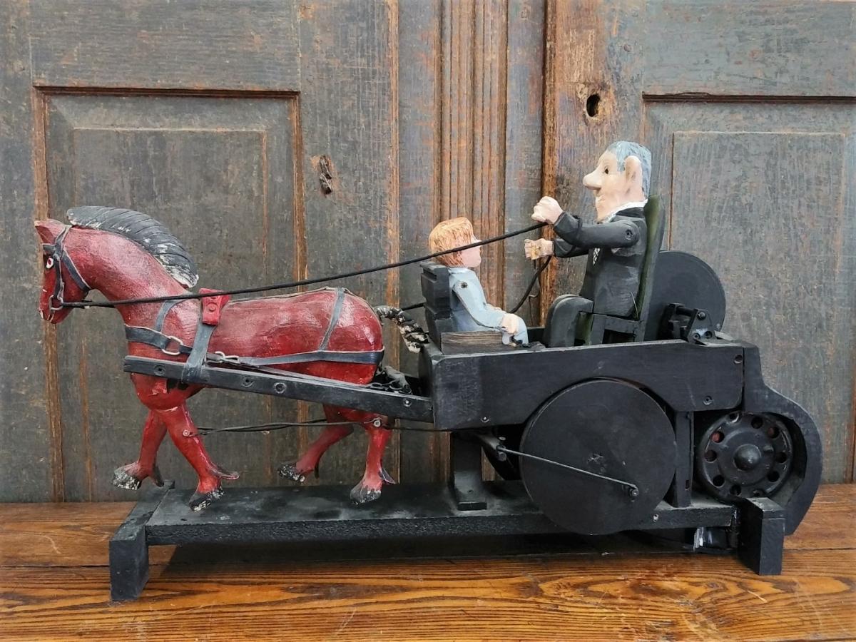 Folk art sculpture with horse 5