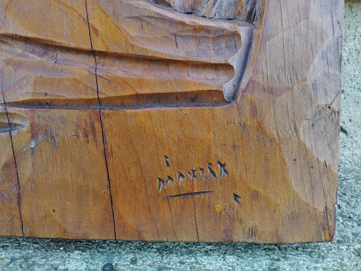 St-Jean-Port-Joli low-relief sculpture, carving 2