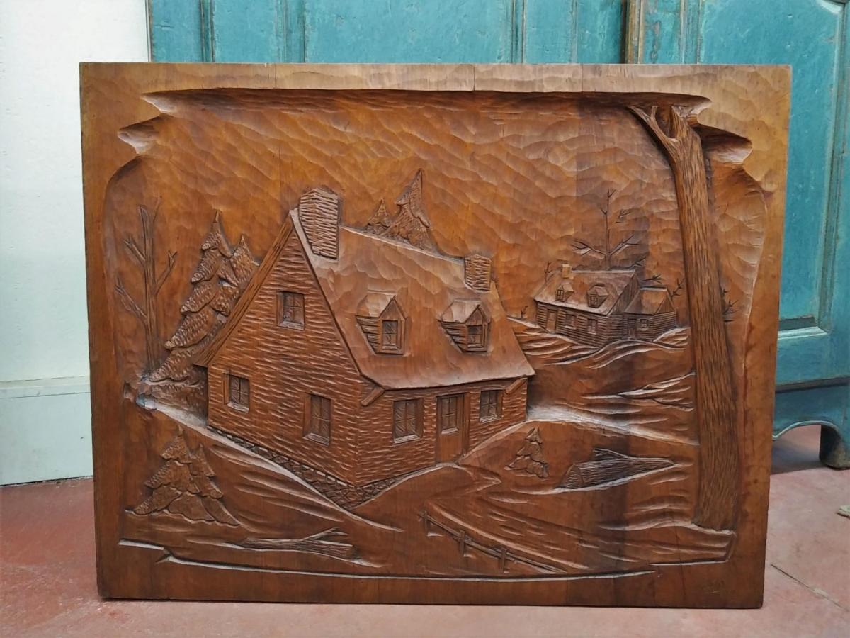 St-Jean-Port-Joli low-relief sculpture, carving 1