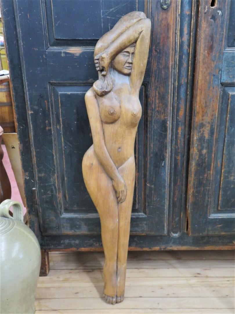 Sculpture signée, art populaire 1
