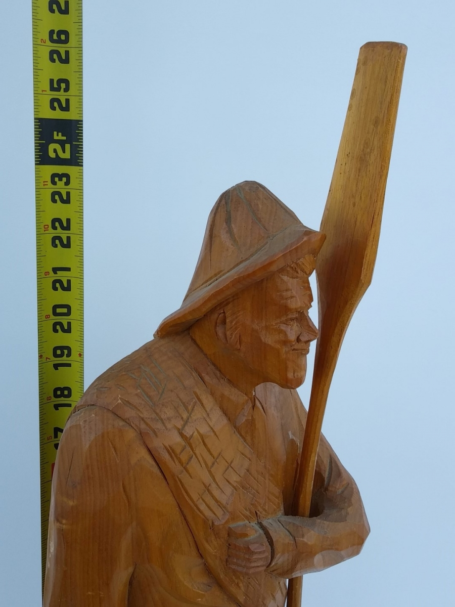 Folk art sculpture, Caron signed, St-Jean-Port-Joli 4