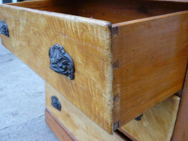 Antique pine desk 3