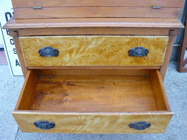 Antique pine desk 4