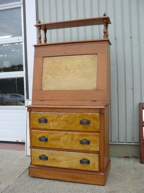 Antique pine desk 1