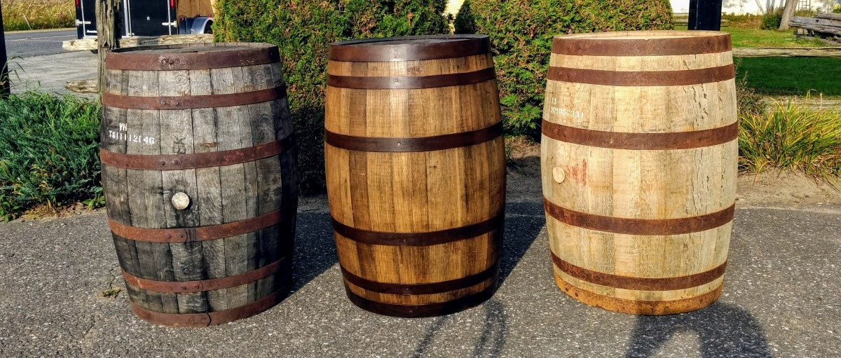 Old whiskey barrels 1