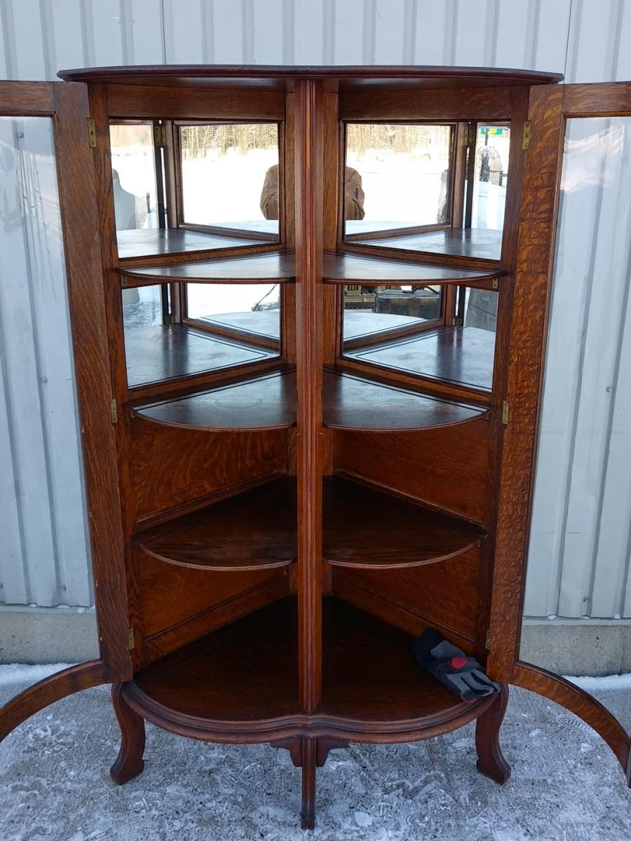 Corner china cabinet 3