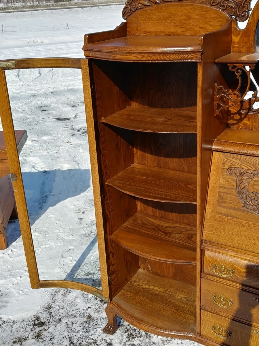Side-by-side desk china cabinet 6