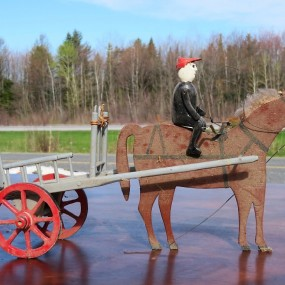 #31265 - 65$ Montage art populaire, cheval, provenance Charlevoix