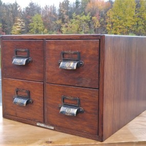 #42089 -  Little oak 4 drawers filing binder