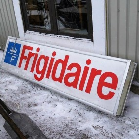 Frigidaire advertising sign