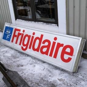 Frigidaire advertising sign