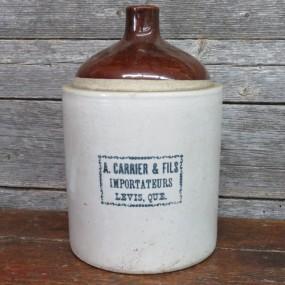 #23240 - 60$ Cruche de marchand A. Carrier, Lévis