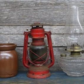 #25405 -  Jarre, fanal et lampe à l'huile