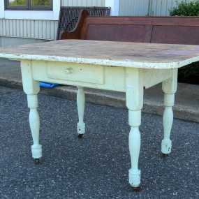 Rustic table with drawer