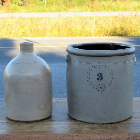#23890 - 65$ ch. Cruche New-York et jarre, tinette 3 gallons