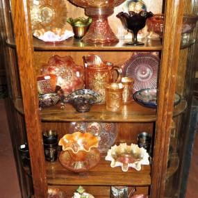 Vaisselle de collection, verre Carnaval