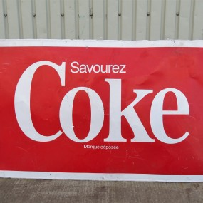 #29064 - 75$ Coke advertising sign