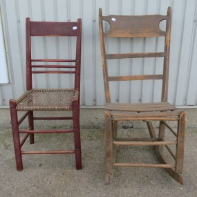 #23909 - 25$ ch. chaises de bellechasse (rouge vendu)