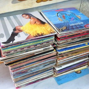 Lot de disques, vinyles