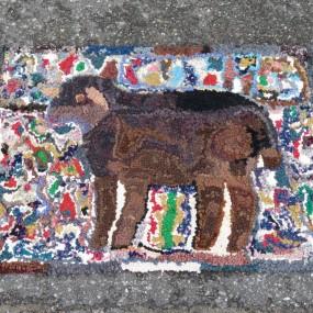 #21511 - 50$ Hooked rug