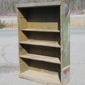 Armoire bibliothèque, clous carrés