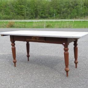 Table rustique, plateau en pin (entrepôt)